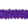 Sequin Stretch 3Row Hologram Dark Purple